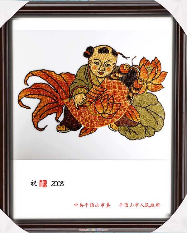 欣赏五谷画 - 草原恋 - 草原恋的图片博客